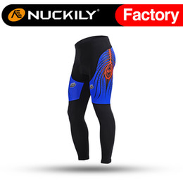 Wholesale Open Silicon - Nuckily Mens branded elastic leg opening with silicon tights Hot selling quick dry biking long pant for men MD004