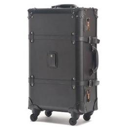 Wholesale Travel Suitcase Wheels - 2015 New Vintage travel bag universal wheels trolley luggage fashion vintage black luggage trolley male female vintage suitcase