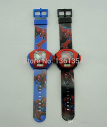 Wholesale Wholesale China Projector - 2014 new arrive 10pcs Spiderman Style Kids' Projector Digital Wrist Watch Gift Children from china 0501#