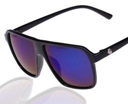 Wholesale Cheaper Women Coats - Hot Brand Sunglasses Big Mirror Lens Large Frame Colorful Women And Men Sun Glasses UV 400 Cheaper Coating Sunglass