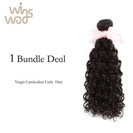Wholesale Curl Cambodian Hair - 7A Unprocessed Virgin Hair Cambodian Curly Virgin Hair 1Bundle, More curls Cambodian Human Hair Extensions No Tangle