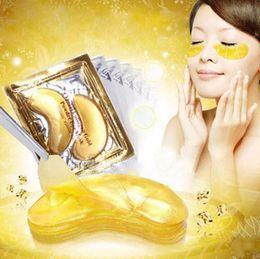 Den schwarzen augenkreis entfernen online-Goldkristallkollagen-Augenmaske Hotsale Augenklappen für den dunklen Kreis Entfernen Sie die Gesichtspflege für schwarze Augen
