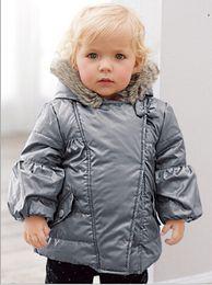 Wholesale Wholesale Ski Coats - Autumn Winter Children Silver Jackets Windbreaker for Kids Baby Boy Plus Velvet Outdoor Coat Boys Ski Wear free shipping