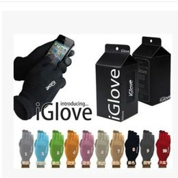 Wholesale knitted gloves wholesale - Fashion Adults Iglove For Ipad Smart Phone Capacitive Touch Screen Gloves Telescopic Acrylic Fibres Knitting Glove High Quality 3zx B