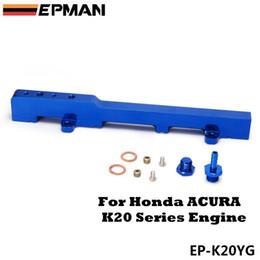 Wholesale High Flow Fuel - For Honda K-Series K20 DC5 EP3 jdm Race Billet Aluminum High Flow Fuel Rail Assembly Blue EPMAN EP-K20YG