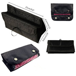 Wholesale Wholesale Clothing Snaps - 5 X Portable Roll Folding Travel Buddy Cosmetic Bags Case Organizer With Snap-Shut Flap Multifunctional Roll folding traveling