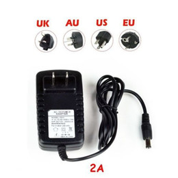 Wholesale 12v Power Supply For Cctv - Wholesale-High quality AC 110v 220v EU US DC 12V 2A Power Supply Charger Adaptor Switching Power supply For LED Strip Light CCTV Camera