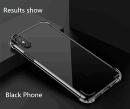 Wholesale I Phone Mobiles - Mobile phone Cases For i Phone 8 X case New Style Four Corners Air Bag To Prevent Fall Clear Soft shell phone case i phone case