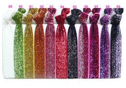 Wholesale Glitter Hair Ties - Glitter Hair Tie Elastic Lady Hand Chian Hairband Headband Girl Kid's Fashion Ribbon Hand Tie Hair Accessories