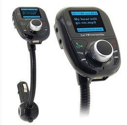 Wholesale Iphone Car Radio Adapter - New Bluetooth Handsfree FM Transmitter Car Kit MP3 Music Player Radio Adapter with Remote Control For iPhone Samsung LG Smartphone DHL