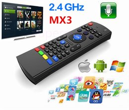 Wholesale Ir Qwerty Remote - 2.4Ghz Wireless X8 MX3 Mini QWERTY Keyboard Mic Voice IR Learning Mode Fly Air Mouse Remote Control for S905X S912 TV Box