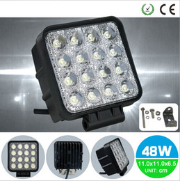 Wholesale Offroad Led Bar Waterproof - 48W Spot Square Waterproof 16leds Cree LED Light Bar Driving Fog Light SUV 4WD Trucks UTE Tractor Boat Offroad 12V