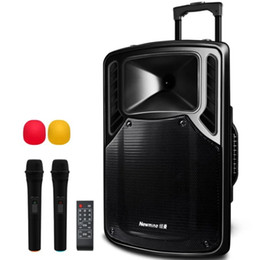 Wholesale Pa Audio Speakers - 500Watt 12 Inch Luggage Style Outdoor plaza Portable PA DJ Sound System Speaker with Wireless Microphone, USB Audio Input and Bluetooth,Tele