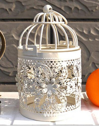 Wholesale Bird Wall - Fashion Hot Bird Cage Decoration Candle Holders Bird Cage Wedding Candlestick