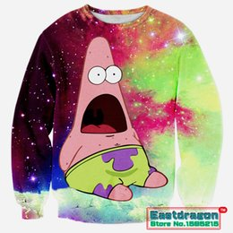 Wholesale Character Patrick - 2015 Autumn Winter Cotton Patrick Cartoon 3D Print Men Women Sweatshirts Male Loose Casual Tops Tee Long Sleeve Pullovers Hoodie