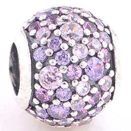 Encantos de salida online-Fit Pandora Bracelets Charms Beads 925 Joyas de plata Venta al por mayor Outlet Barato Purple Sky Europeo DIY encontrar para las mujeres 013
