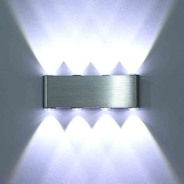 Wholesale Indoor Green Wall - 12W wall lamps Aluminum LED wall lighting modern decor indoor decor light for DJ Club KTV White Warm White RGBY background lamp AC85V-265V