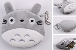 Wholesale Wholesale Purse Chains - My Neighbor TOTORO 10CM Mini Plush Coin Bags Wallet Pouch Handbag ; Pendant Chain Coin Purse Bag Case ; Storage BAG