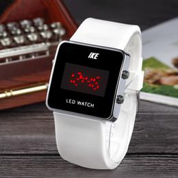 Wholesale Square Watches Silicone - Fashion NI luxury Brand women men's square Dial Silicone band quartz wrist watch N02