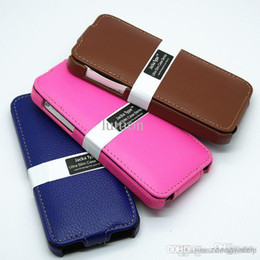 Wholesale Iphone5 Leather Holster - Wholesale - 2014 New Iphone5 Phone Leather Protective Sleeve Apple Apple 5s Lychee Leather Holster Turned Down Apple's Mobile Phone Set
