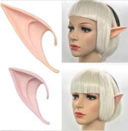 Wholesale Latex Ear Tips - Long Prosthetic Fairy Pixie Elf Ear Halloween Party Latex Ear Tips Alien vampire Fairy Cosplay Props Anime theme decor 10cm 12cm gift