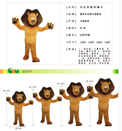 Wholesale Alex Lion - custom made Madagascar Top Selling Alex Lion Mascot Costume Plush Cartoon Character Suit Adult Size Real Pictures Free EMS Shipping