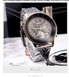 Wholesale jaragar silver - 2015 fashion Jaragar Automatic Self-winding Mechanical Wris Watches Men with Analog Display Stainless Strap Luxury Design Wristwatch