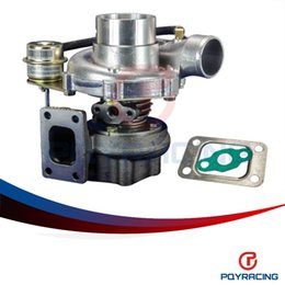 Wholesale T25 Flange - : PQY-GT2870 GT28 GT2871 compressor housing AR 60 turbine a r .64 T25 flange 5 bolt with actuator Turbocharger turbo PQY-TURBO31