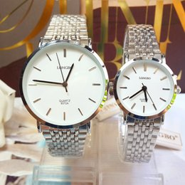 Wholesale Wedding Watches For Men - The New High Quality Quartz Fashion Luxury men Rose Gold Steel Band Watch The Wedding Party Gift for couple Wristwatches