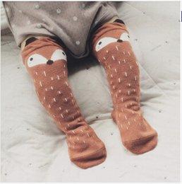 Wholesale Baby Knee Pads For Girls - meias infantil unisex animal fox baby leg warmers socks for kids girls patterne bambina calentadores piernas knee pads for children 2015