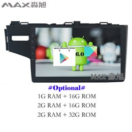 Wholesale Honda Fit Car Radio - Android 6.0 Car DVD Player for Honda fit 2014 2015 2016 with BT 3 4G WIFI SWC GPS FREE MAP Mirror Link