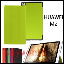 Wholesale huawei tablet accessories - Ultra Slim leather case Folio Flip Smart Cover Stand for Huawei Honor MediaPad Tablet 10 in M2 T1-A21W T1-701U