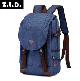 backpack factory Coupons - Factory direct selling brand, men's bag custom made water repellent fabric leisure backpack Korean version large capacity Canvas Backpack
