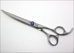 Wholesale Professional Grooming Supplies - Styling Tools Hair Scissors Hair Professional Pet 7.5inch curved scissors Pet Grooming Supplies
