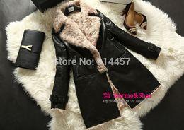 Wholesale Sheepskin Winter Coats For Women - Wholesale-Free Shipping EMS Luxury 2015 New Real Lamb Fur Natural Sheepskin Leather Winter Jacket For Women Elegant Fur Coat With Zipple