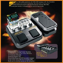 Wholesale Nux Guitar Effects - NUX MG-100 Modeling Guitar Processor Guitar Effect Pedal Drum Tuner Recorder Multi-function With Guitar Modeling Processor