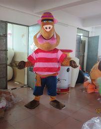 Wholesale Wild Mascots - High Quality Adult Size Wild Boar Mascot Costume Fancy Dress Cartoon Dress Cute Wild Boar Mascot Halloween Party Dress