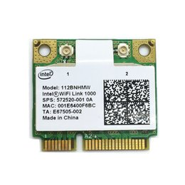 Wholesale Intel Wireless Mini Pci - Wholesale- Free shipping Wireless-N Intel 1000 112BNHMW Half Mini PCI-E 300Mbps 802.11b g n wireless card