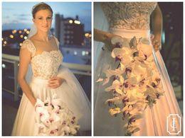 Wholesale Satin Lace Sleeve - Gorgeous Vintage Wedding Dresses 2015 New Cap Sleeves Lace Satin Vestidos De Fiesta Cheap Wedding Ball Gowns
