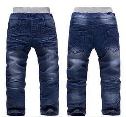 Wholesale Boys Elastic Waist Jeans - free shipping new Retail Latest Boys Autumn Spring Casual Jeans Children Fashion Hot Selling Denim Pants Baby wear trousers