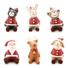 Wholesale Christmas Groceries - Christmas decorations creative gifts zakka small animals resin crafts sky groceries Decoration toy