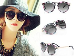 Wholesale Sunglasses Golden Arrows - 2015 New Sexy Unisex Vintage Sunglasses Arrow Style Eyewear Metal Frame Round UV400 Polarized Sunglasses 5 Colors 10Pcs Lot Free Shipping