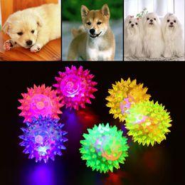 Wholesale Bell Balls - Free shipping 1pcs Dog Puppy Cat Pet Hedgehog Ball Rubber Bell Sound Ball Fun Playing Toy Hot Worldwide Brand New