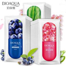 Types cerises en Ligne-Masque pour la gelée BIOAQUA Soins du visage Aloe Blueberry Cherry Blossom Trois types de masque hydratant pour le sommeil en option