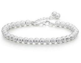 Wholesale Cheap Cubic Zirconia Charms Wholesale - Cheap Bead Bracelet 30% Silver 3 Layer White Gold Plating Women Wedding Bracelets Bangles Charms Scrub Beads Jewelry