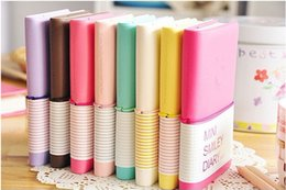 Wholesale Smiley Diary - 201506 Free Shipping   NEW cute little girl Notepad MINI SMILEY DIARY PU leather sheath notebook Fashion NEW Gift Wholesal S713M