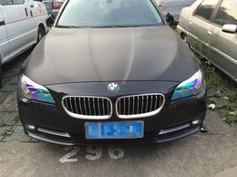 Wholesale color changing vinyl - 0.3x2m Free Shipping Car Styling Chameleon Lamp Film Tint Film For Car Color Changing Headlights Tinting Light Vinyl Film Car Foil