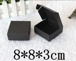 Wholesale Black Kraft - Retail Black Gift Package Boxes Craft Gift Box Handmade Soap Packaging Kraft Paper Boxes Free Shipping