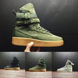 Wholesale Open Blue - (with box) Special Forces Force Racers Field SF AF1 One Boots Black Gum Light Brown Mens Womens Sport Athletic Trainers size 36-45