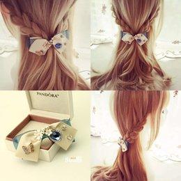 Wholesale Blue Danube - Small street hair ornaments handmade bow hairpin female headdress issuing Free shipping Korea hair clip Quanding Blue Danube